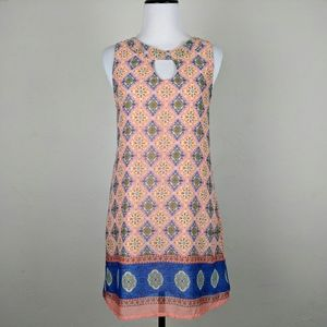 Lucy Love Eva Printed Cloral Pink Blue Tunic Dress